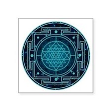 "StarrySkyYantra Square Sticker 3"" x 3"""