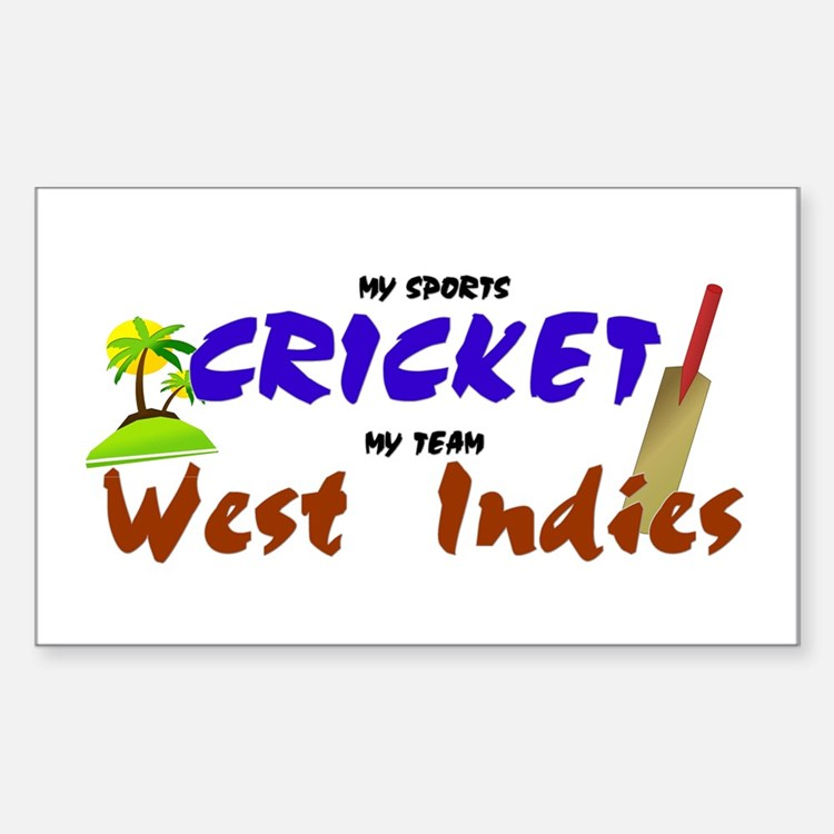 West Indies Cricket Rectangle Decal