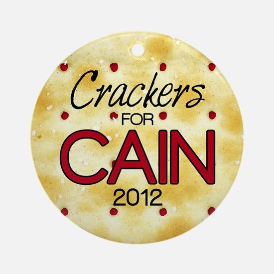 2-25_crackers_cain_off Round Ornament