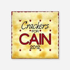 "2-25_crackers_cain_off Square Sticker 3"" x 3"""