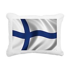 finland_flag Rectangular Canvas Pillow