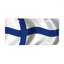 finland_flag Aluminum License Plate