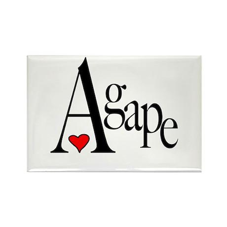 Agape Rectangle Magnet (10 pack)