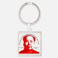 red mao Square Keychain
