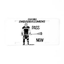 Lacrosse Defense Pass Aluminum License Plate