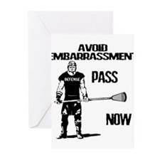 Lacrosse Defense Pass Greeting Cards (Pk of 10)