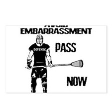 Lacrosse Defense Pass Postcards (Package of 8)