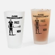 Lacrosse Defense Pass Drinking Glass