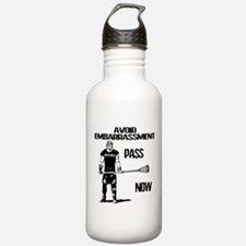 Lacrosse Defense Pass Water Bottle