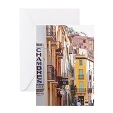 A narrow street in the old town. Col Greeting Card