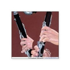 "Clarinet Hands a Shirt Square Sticker 3"" x 3"""