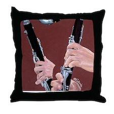 Clarinet Hands a Shirt Throw Pillow