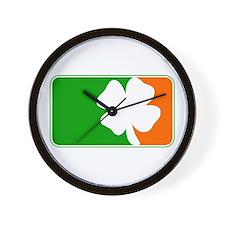 Irish Shamrock Logo Wall Clock