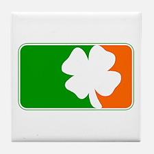 Irish Shamrock Logo Tile Coaster