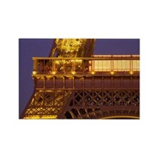 France, Paris, Tour Eiffel and Ec Rectangle Magnet