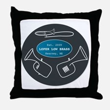 Loper Low Brass Text Circle Throw Pillow