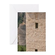 Meteora. Escape ladder and chain aga Greeting Card