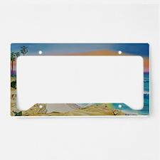Moon Rocks Sunset b shirt License Plate Holder