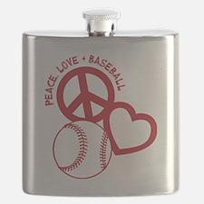 P,L,Baseball, red Flask