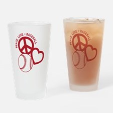 P,L,Baseball, red Drinking Glass