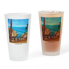 La Jolla Beach Path a shirt Drinking Glass