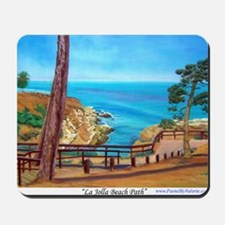 La Jolla Beach Path a shirt Mousepad