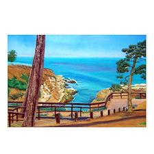 La Jolla Beach Path a shi Postcards (Package of 8)