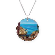 La Jolla Beach Path a shirt Necklace