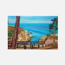 La Jolla Beach Path a shirt Rectangle Magnet