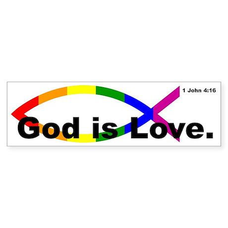 """God Is Love"" Bumper Sticker"