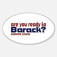 Barack Obama 08 Oval Decal
