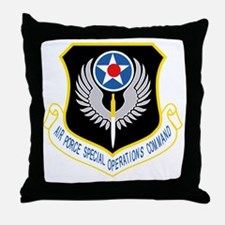 AFSOC USAF Throw Pillow