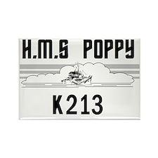 HMS Poppy Rectangle Magnet