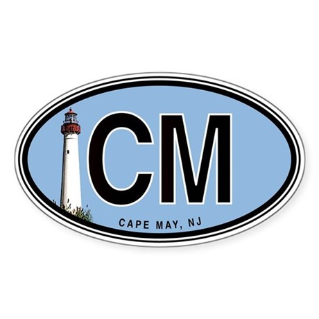 Cape May Euro Oval Sticker