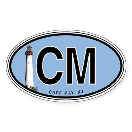 Cape May Euro Oval Sticker
