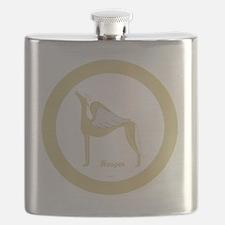HOOPER ANGEL GREY GOLD RIM ROUND ORNAMENT TE Flask