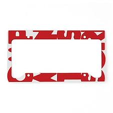 whoopass, red sideways License Plate Holder