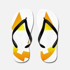 little pumpkin-blk Flip Flops