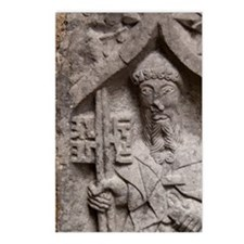 Medieval stone carving at Postcards (Package of 8)