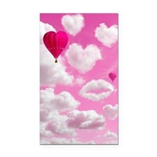 556 Heart Clouds for Cafe Pre Rectangle Car Magnet