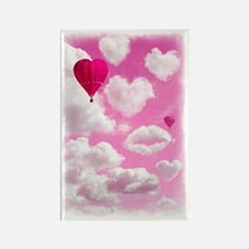 556 Heart Clouds for Cafe Press a Rectangle Magnet