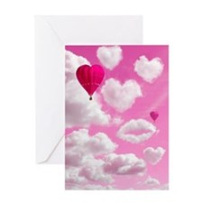 556 Heart Clouds for Cafe Press c Greeting Card