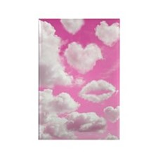 556 Heart Clouds for Cafe Press d Rectangle Magnet