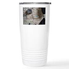 Cask and walking stick hang on  Travel Mug
