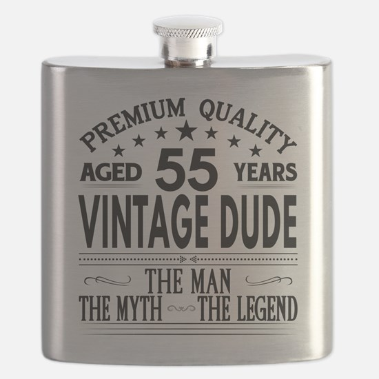 VINTAGE DUDE AGED 55 YEARS Flask