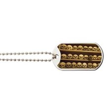 Meteora. Skulls of monastics on shelves i Dog Tags