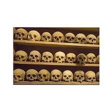 Meteora. Skulls of monastics on s Rectangle Magnet