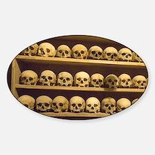 Meteora. Skulls of monastics on she Sticker (Oval)