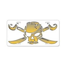 Jolly Roger Aluminum License Plate