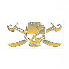 Jolly Roger Aluminum License Plate